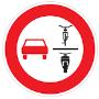 Überholverbot von 1-spurigen Fahrzeugen für mehrspurige Kfz und Krafträder mit Beiwagen